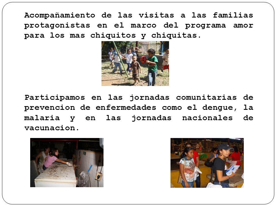 Acompañamiento de las visitas a las familias protagonistas en el marco del programa amor para los mas chiquitos y chiquitas.