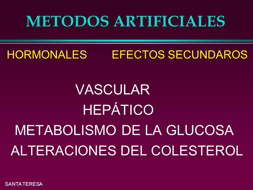 METODOS ARTIFICIALES HEPÁTICO METABOLISMO DE LA GLUCOSA