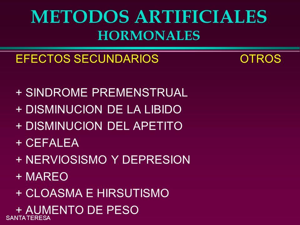 METODOS ARTIFICIALES HORMONALES