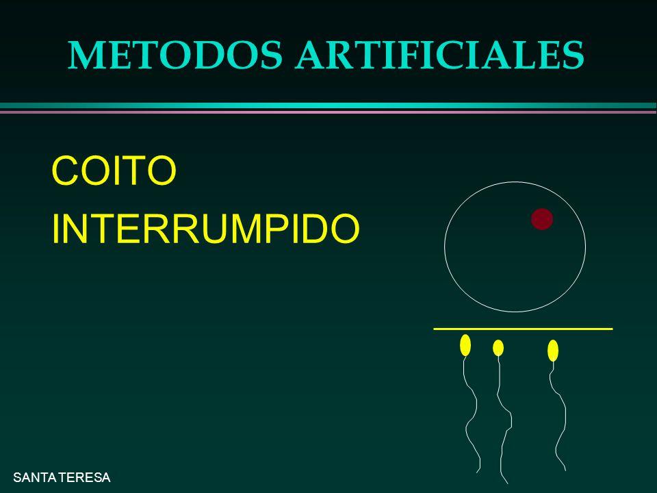 METODOS ARTIFICIALES COITO INTERRUMPIDO