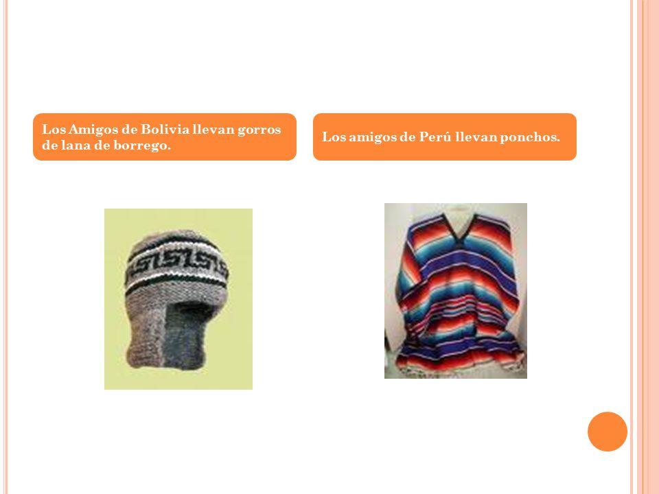 Los Amigos de Bolivia llevan gorros de lana de borrego.