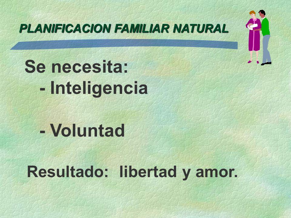 Se necesita: - Inteligencia - Voluntad Resultado: libertad y amor.