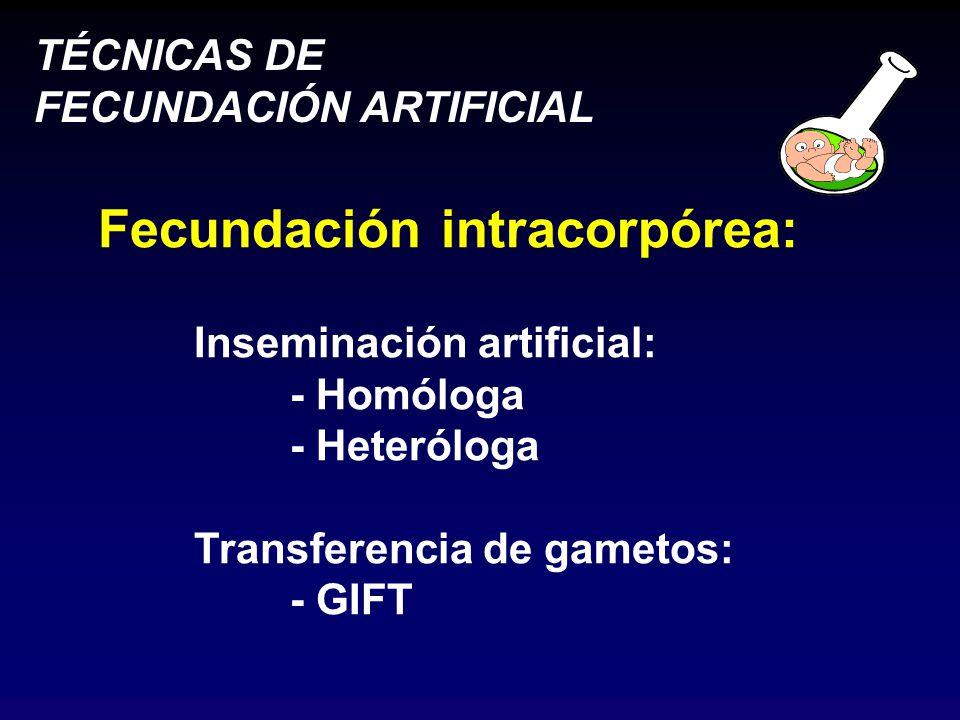 Fecundación intracorpórea: Inseminación artificial: