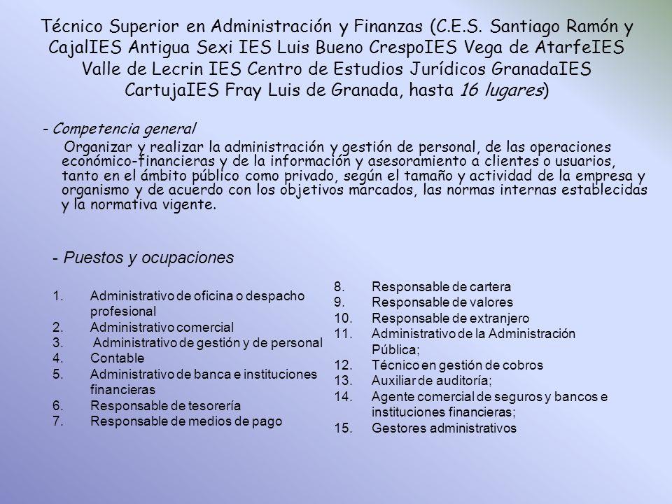 Técnico Superior en Administración y Finanzas (C. E. S