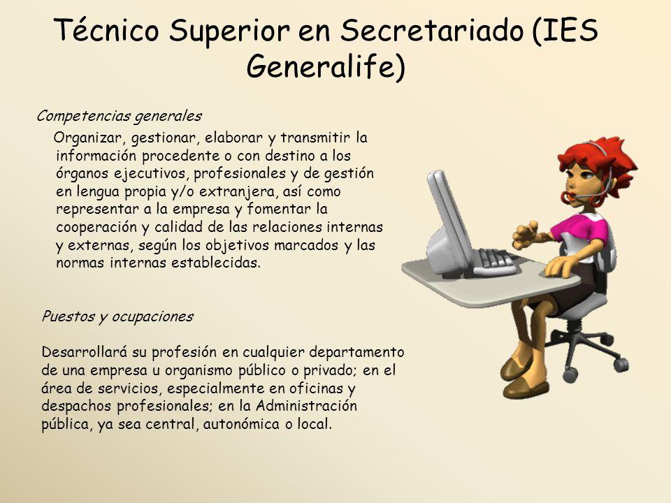 Técnico Superior en Secretariado (IES Generalife)