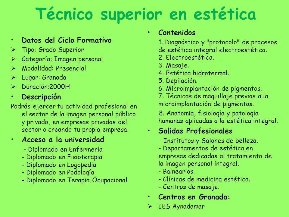 Técnico superior en estética
