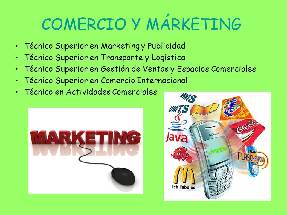 COMERCIO Y MÁRKETING Técnico Superior en Marketing y Publicidad