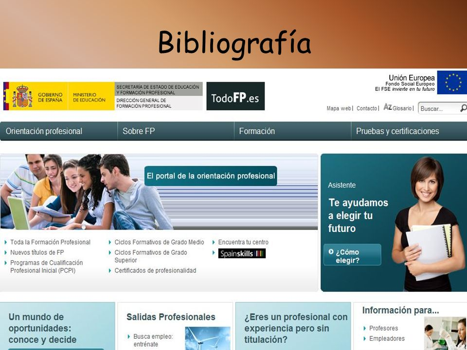 Bibliografía http://www.todofp.es