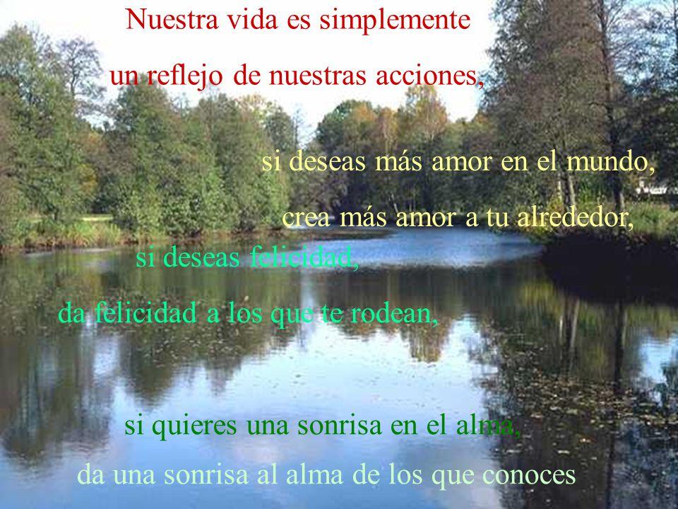 Nuestra vida es simplemente un reflejo de nuestras acciones,