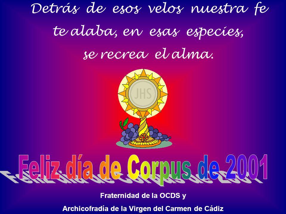 Feliz día de Corpus de 2001 Detrás de esos velos nuestra fe