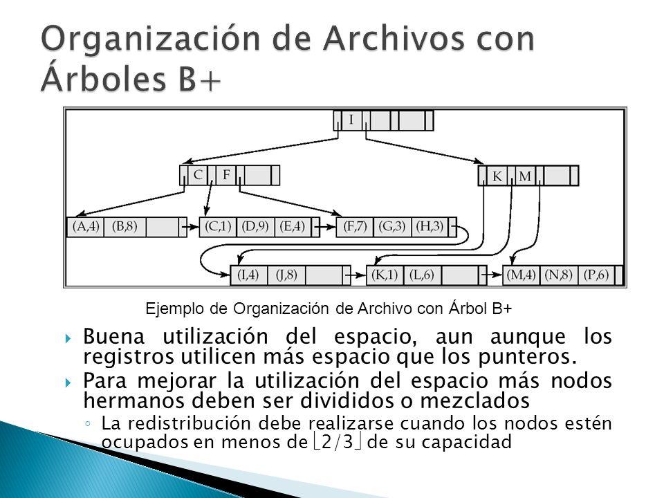 Organización de Archivos con Árboles B+