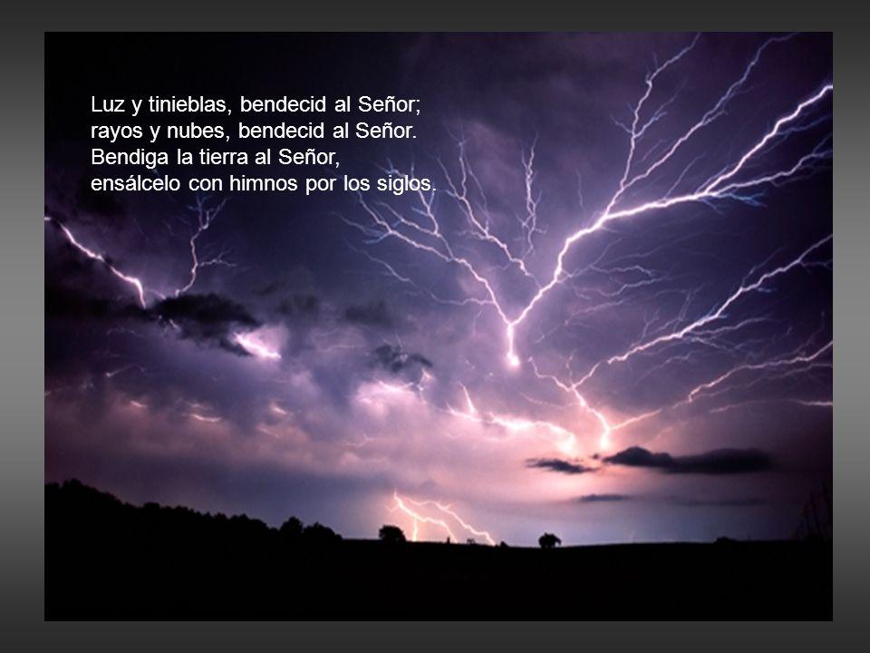 Luz y tinieblas, bendecid al Señor;