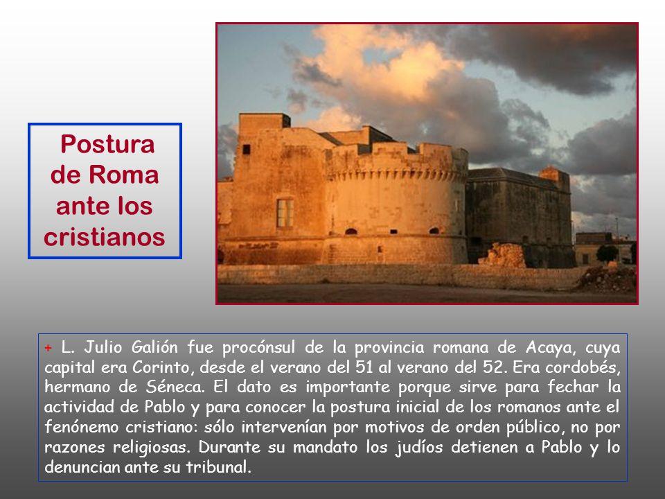 Postura de Roma ante los cristianos