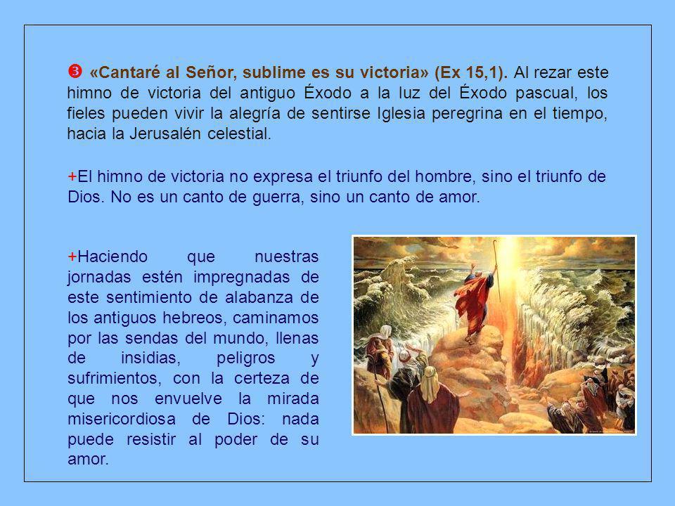  «Cantaré al Señor, sublime es su victoria» (Ex 15,1)