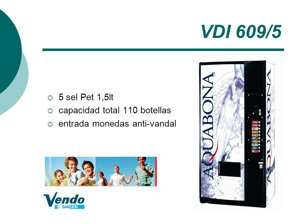 VDI 609/5 5 sel Pet 1,5lt capacidad total 110 botellas
