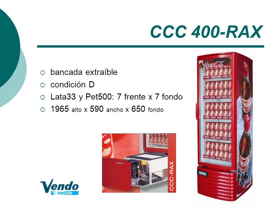 CCC 400-RAX bancada extraíble condición D