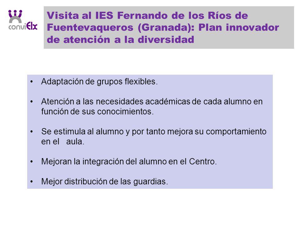 Visita al IES Fernando de los Ríos de Fuentevaqueros (Granada): Plan innovador de atención a la diversidad