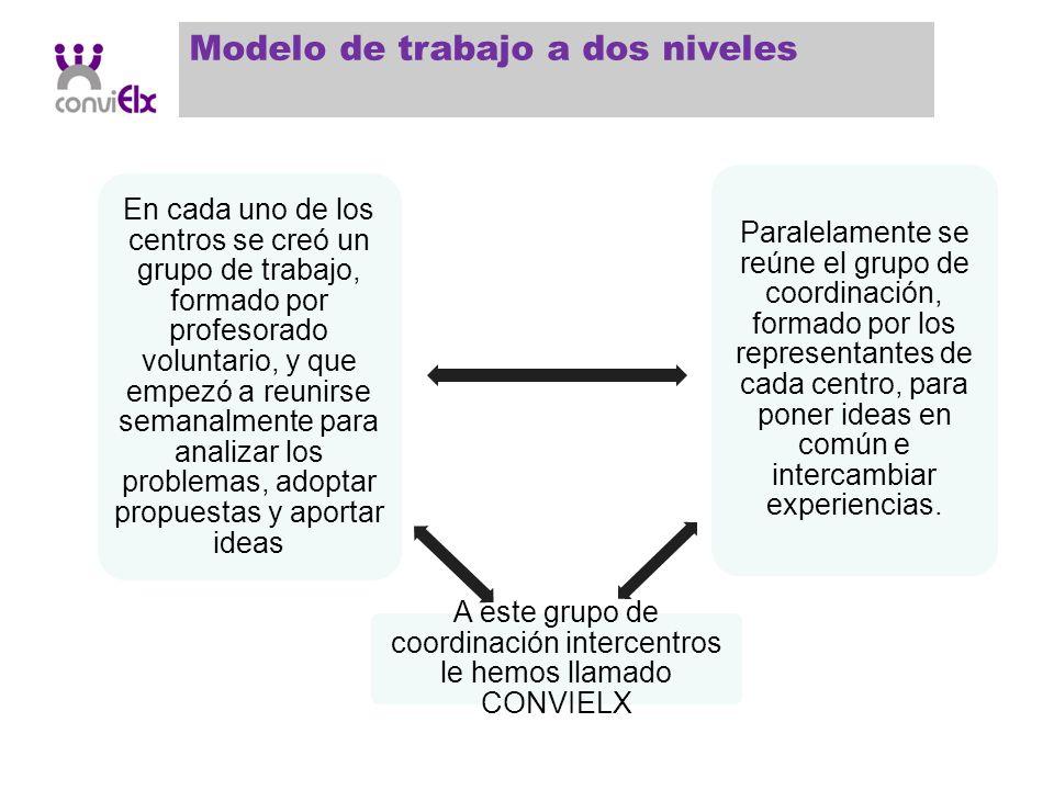 A este grupo de coordinación intercentros le hemos llamado CONVIELX