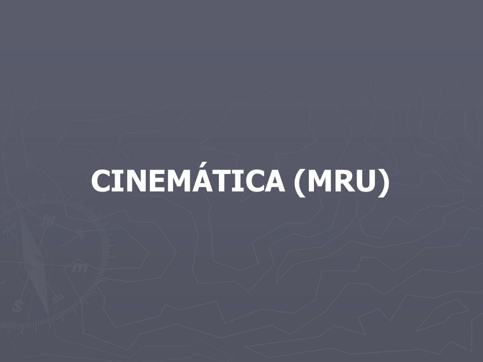 CINEMÁTICA (MRU)