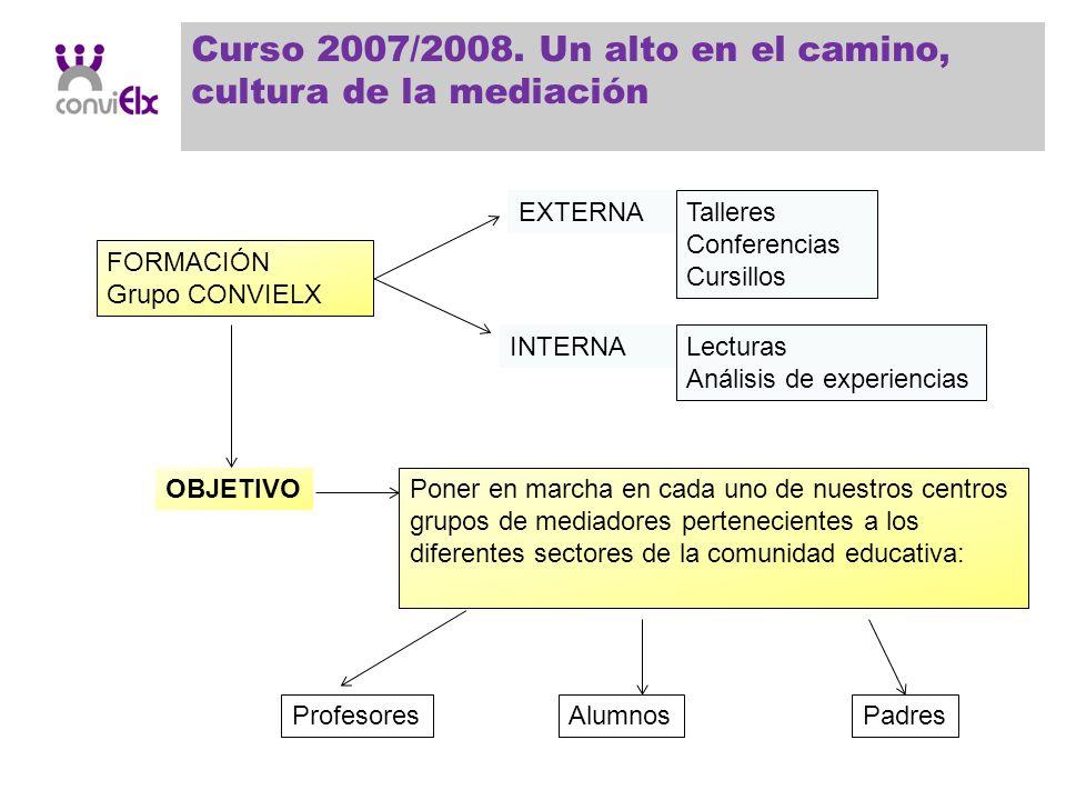 Curso 2007/2008. Un alto en el camino, cultura de la mediación