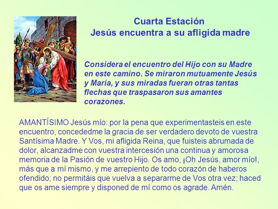 Jesús encuentra a su afligida madre