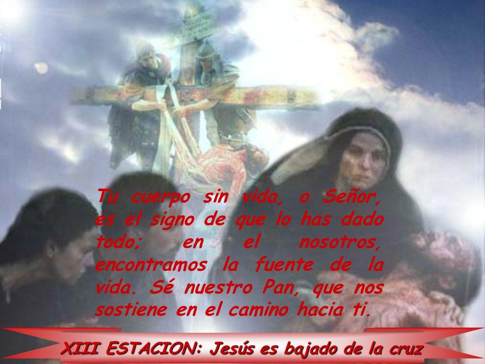 XIII ESTACION: Jesús es bajado de la cruz