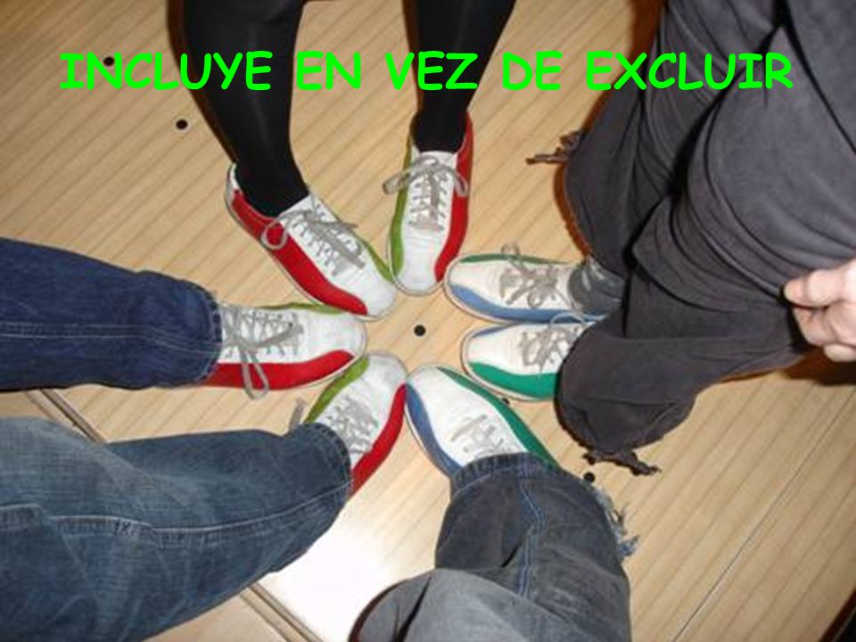 INCLUYE EN VEZ DE EXCLUIR