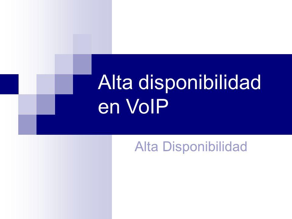Alta disponibilidad en VoIP