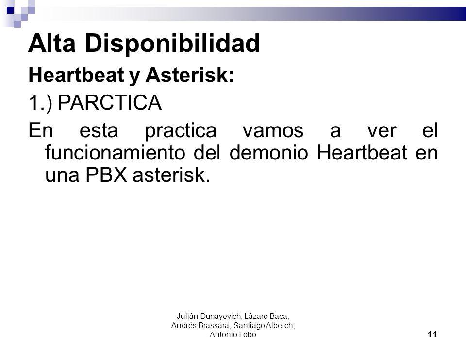 Alta Disponibilidad Heartbeat y Asterisk: 1.) PARCTICA