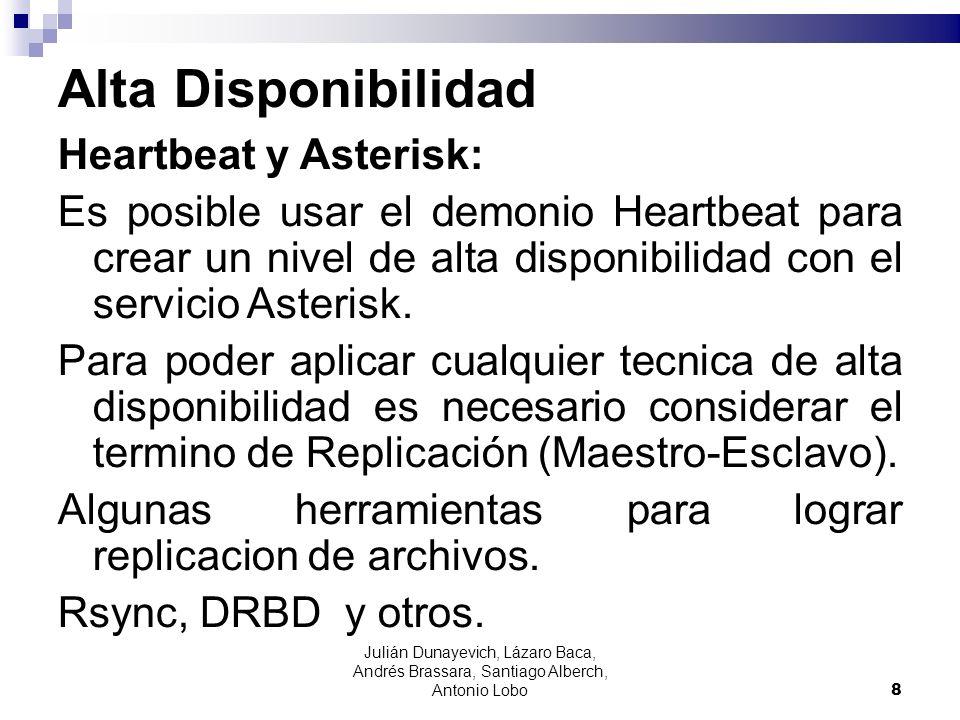 Alta Disponibilidad Heartbeat y Asterisk: