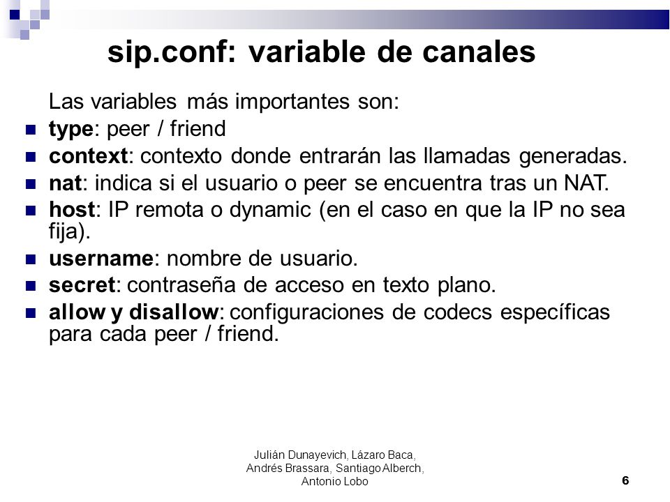 sip.conf: variable de canales