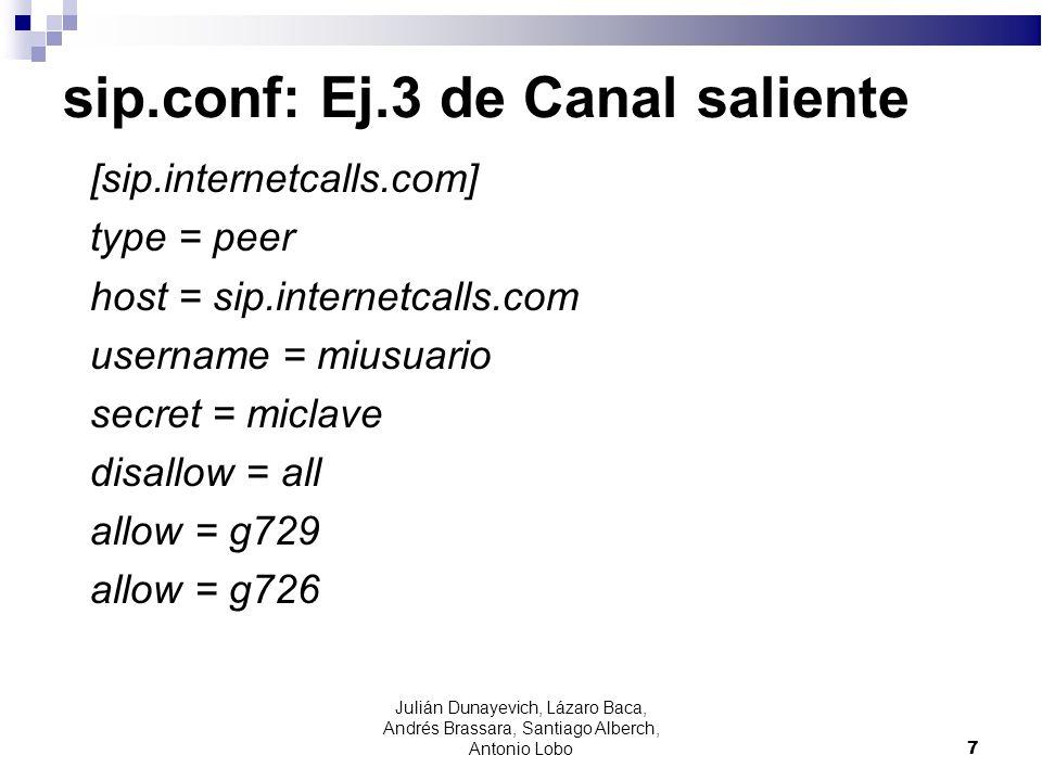 sip.conf: Ej.3 de Canal saliente