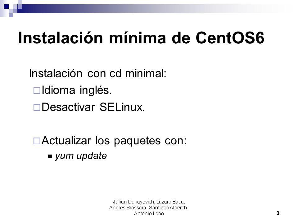 Instalación mínima de CentOS6