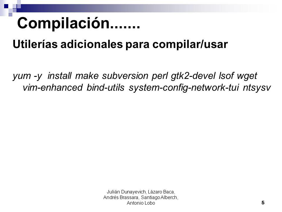 Compilación....... Utilerías adicionales para compilar/usar