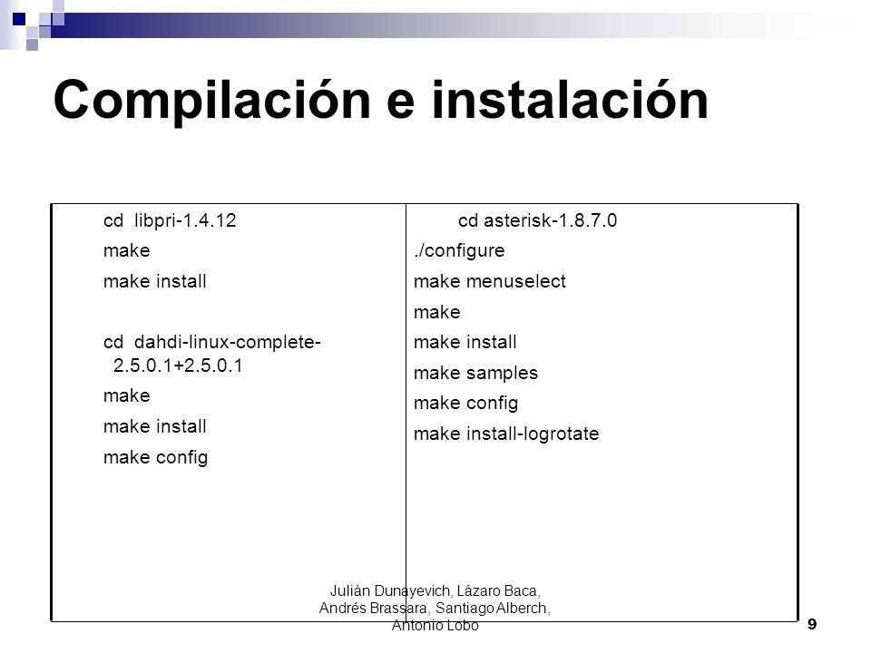 Compilación e instalación