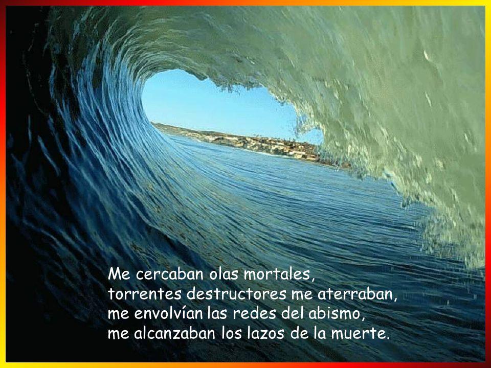 Me cercaban olas mortales, torrentes destructores me aterraban, me envolvían las redes del abismo, me alcanzaban los lazos de la muerte.