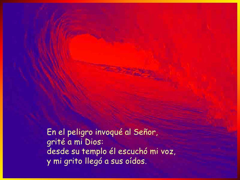 En el peligro invoqué al Señor, grité a mi Dios: desde su templo él escuchó mi voz, y mi grito llegó a sus oídos.
