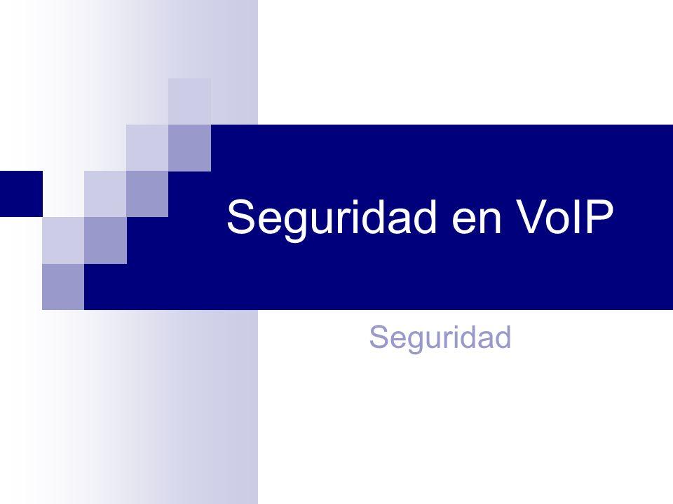 Seguridad en VoIP Seguridad 1