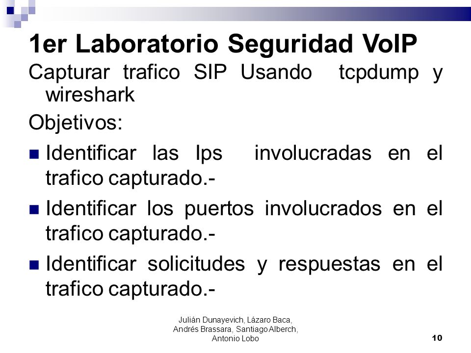 1er Laboratorio Seguridad VoIP