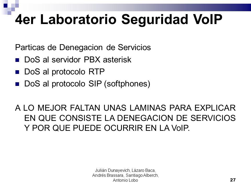 4er Laboratorio Seguridad VoIP