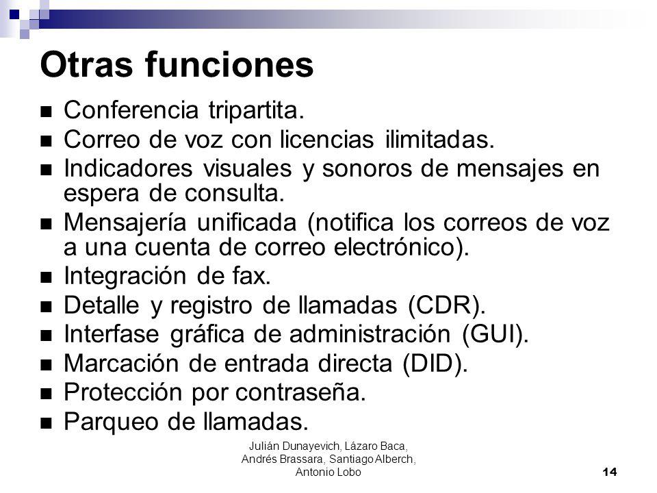 Otras funciones Conferencia tripartita.