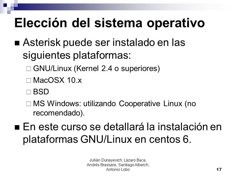 Elección del sistema operativo