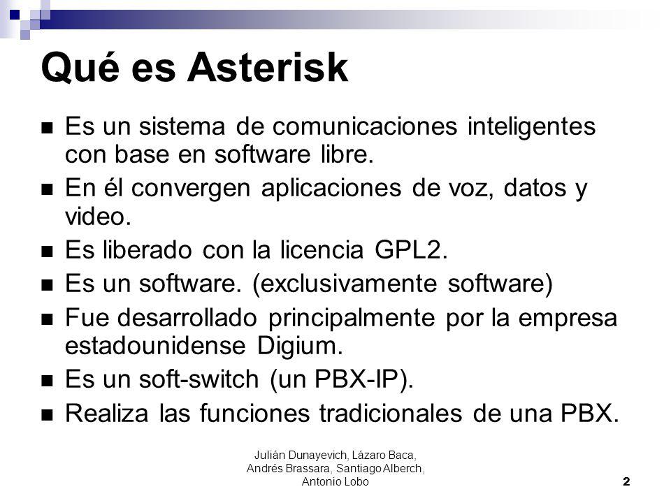 Qué es Asterisk Es un sistema de comunicaciones inteligentes con base en software libre. En él convergen aplicaciones de voz, datos y video.