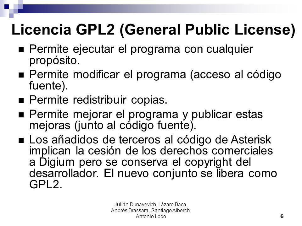 Licencia GPL2 (General Public License)