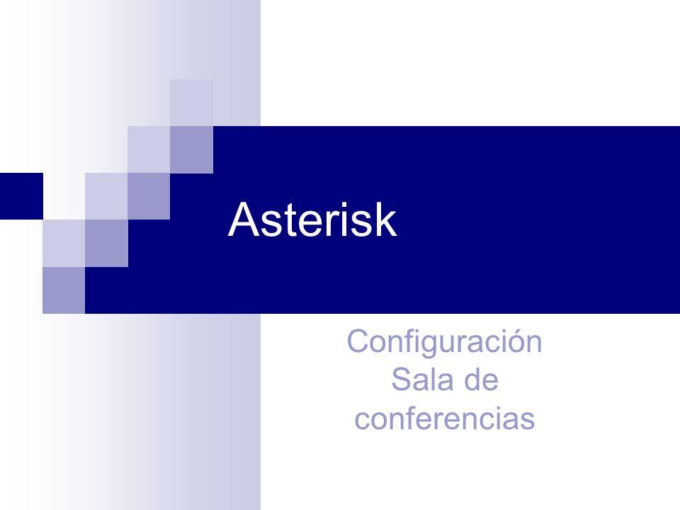 Asterisk Configuración Sala de conferencias 1