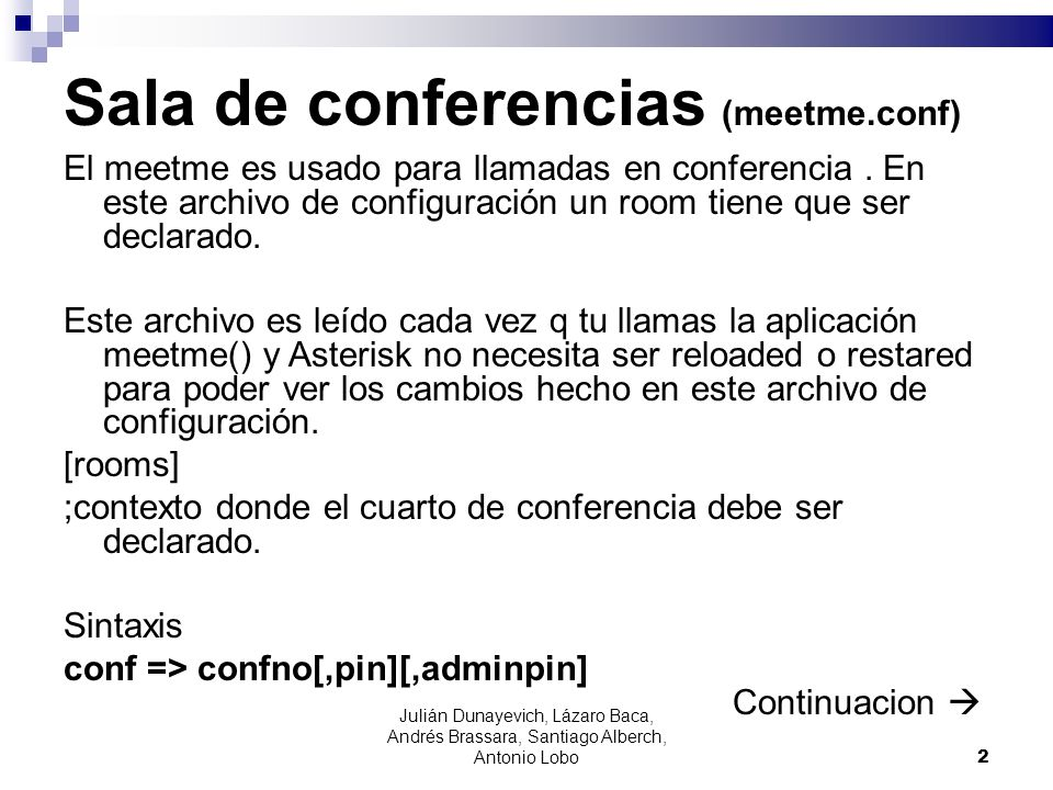 Sala de conferencias (meetme.conf)