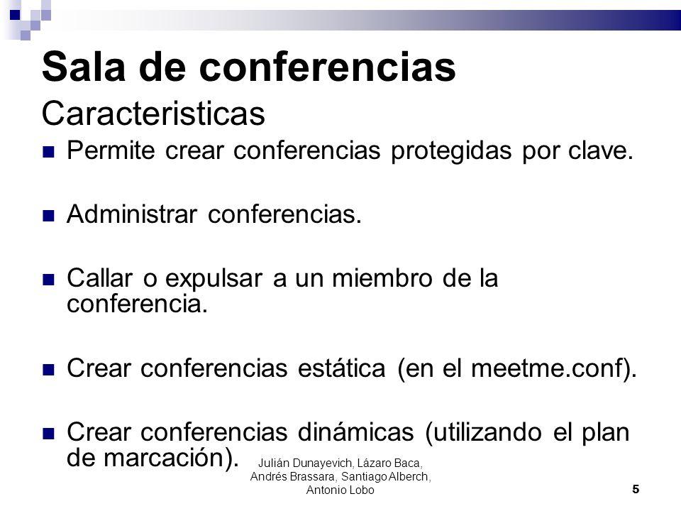 Sala de conferencias Caracteristicas