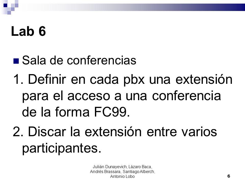 2. Discar la extensión entre varios participantes.