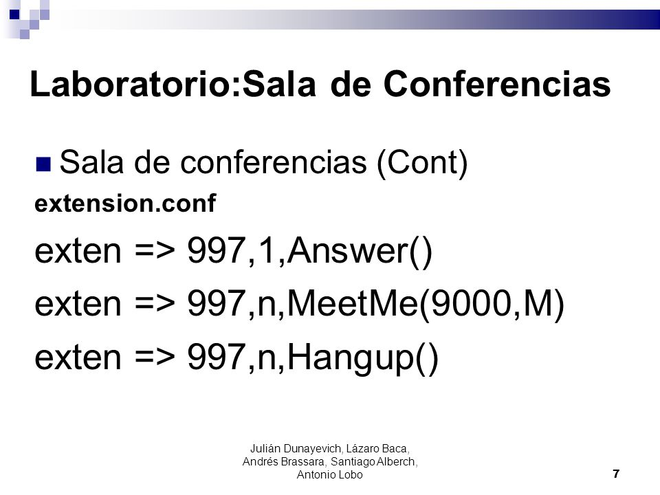 Laboratorio:Sala de Conferencias
