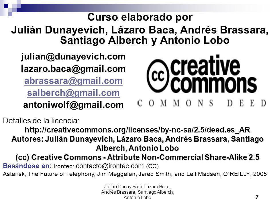 Curso elaborado por Julián Dunayevich, Lázaro Baca, Andrés Brassara, Santiago Alberch y Antonio Lobo.